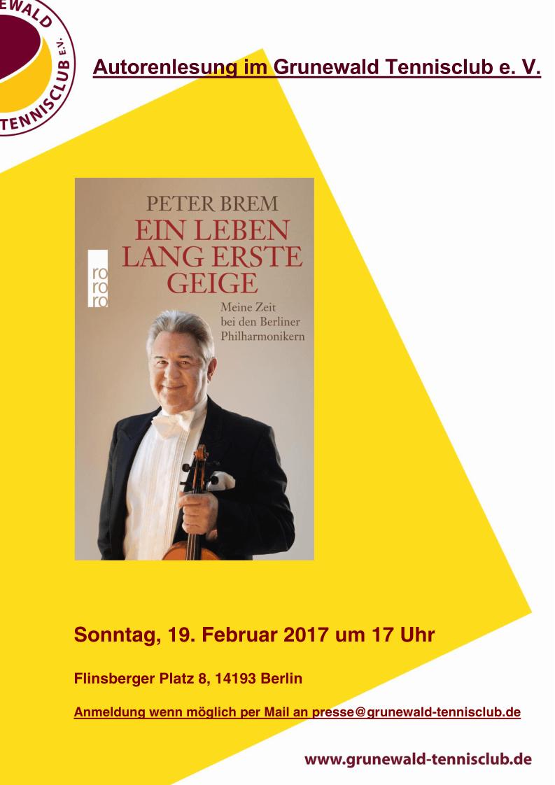 Lesung Peter Brem
