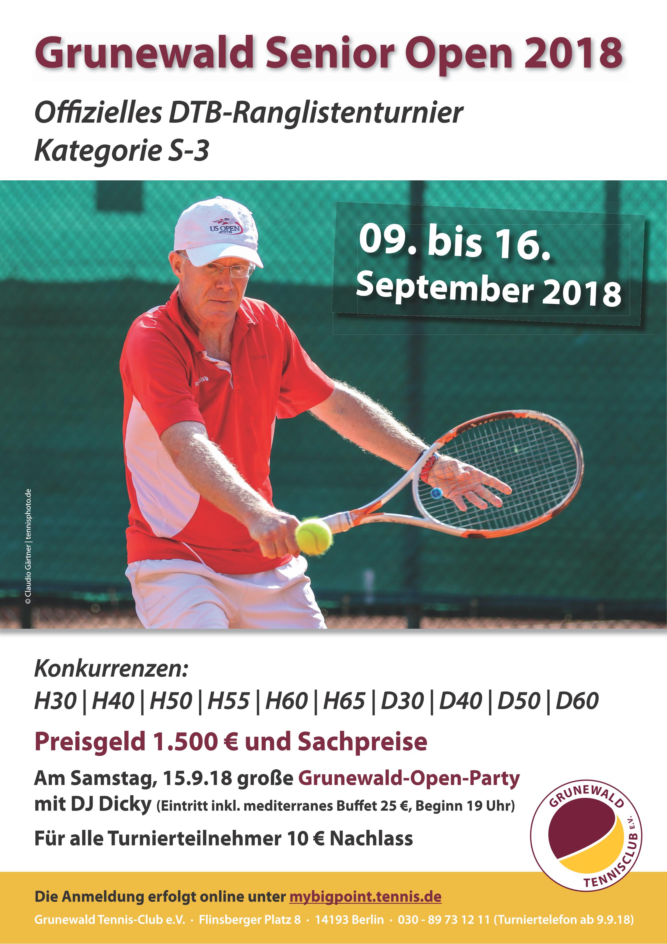 Grunewald Senior Open 2018