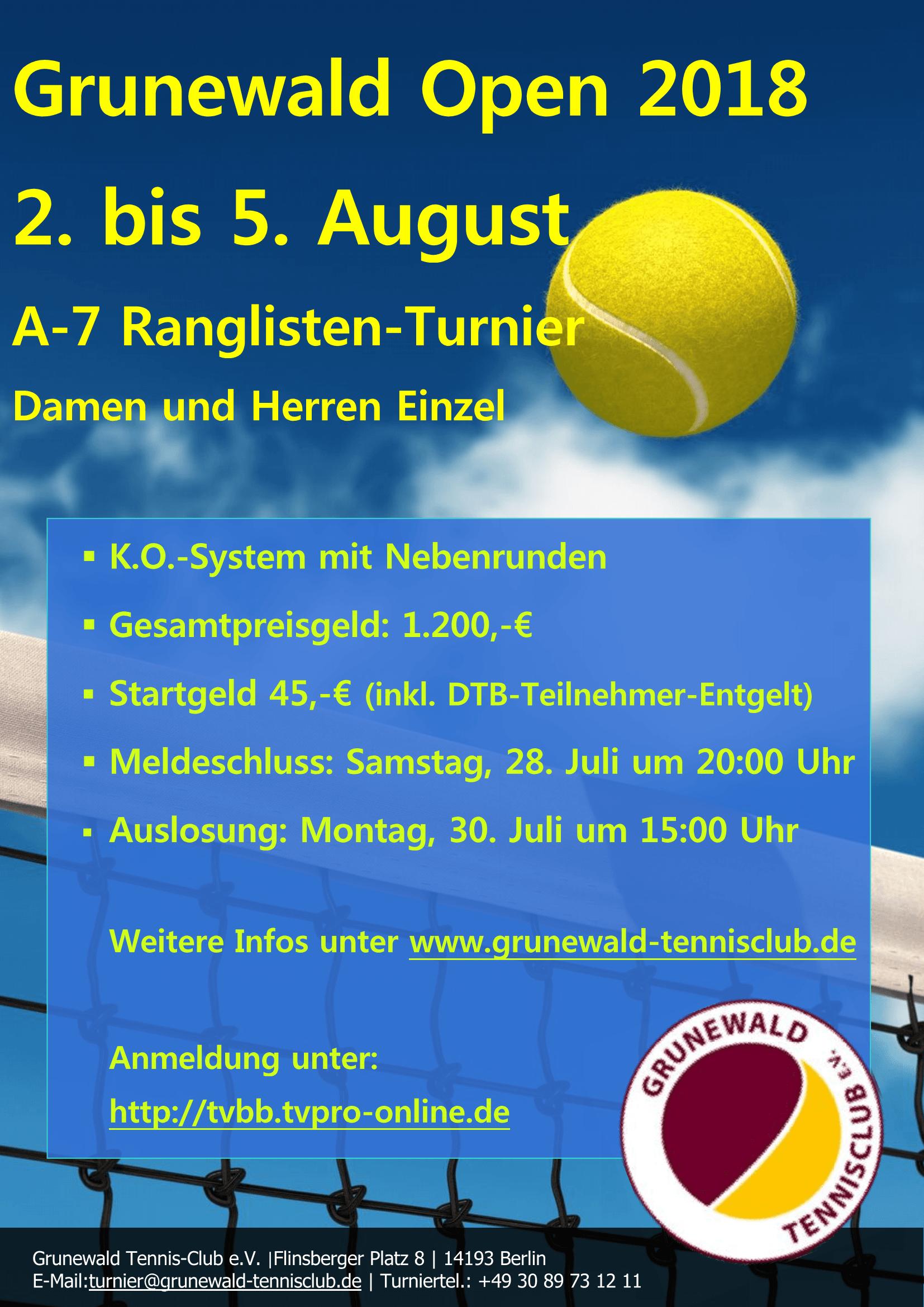 Grunewald Open 2018