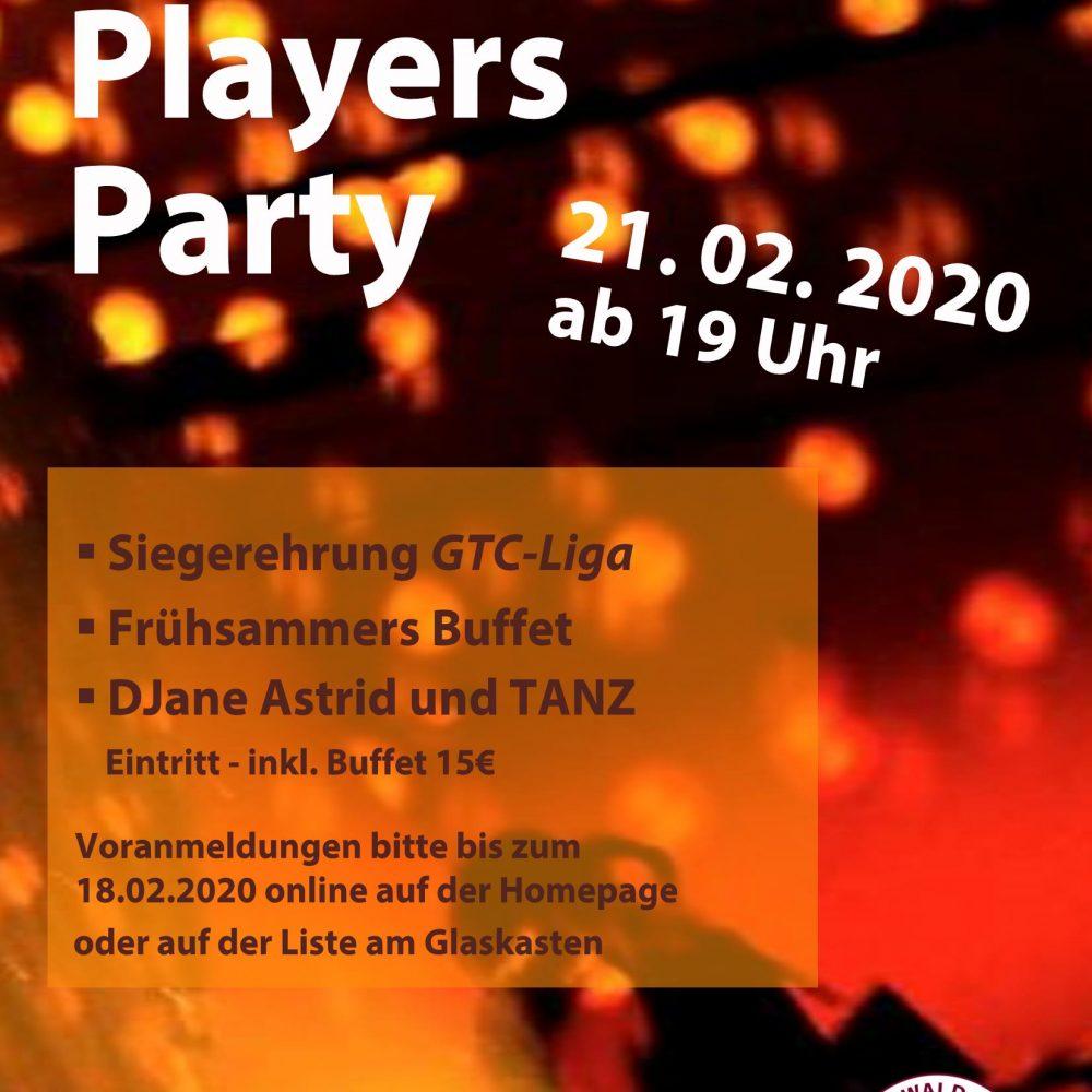 Players Party mit Siegerehrung GTC-Liga