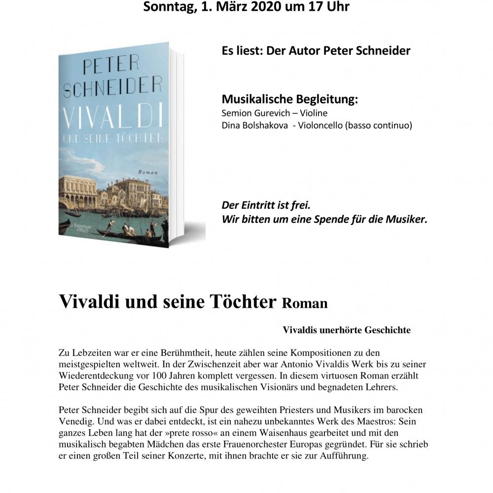 Lesung von Peter Schneider mit musikalischer Begleitung
